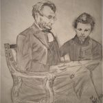 Abraham Lincoln and Willie Lincoln – 1988 pencil